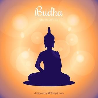 Tradycyjny budha w stylu sylwetka