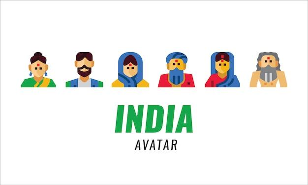 Tradycyjny charakter indii. płaskie elementy.