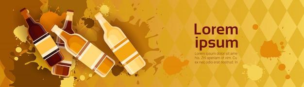 Tradycyjny festiwal piwa oktoberfest banner holiday banner