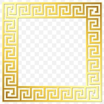 Tradycyjny grecki ornament vintage złoty, meander
