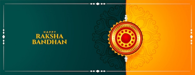 Tradycyjny hinduski baner festiwalu raksha bandhan