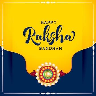 Tradycyjny indyjski festiwal raksha bandhan życzy projekt karty