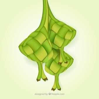 Tradycyjny ketupat tło