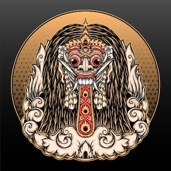 Tradycyjny projekt ilustracji rangda bali