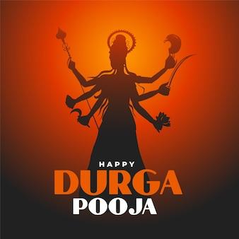 Tradycyjny projekt karty festiwalu happy durga pooja