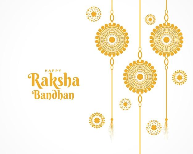 Tradycyjny szczęśliwy raksha bandhan płaski projekt powitania
