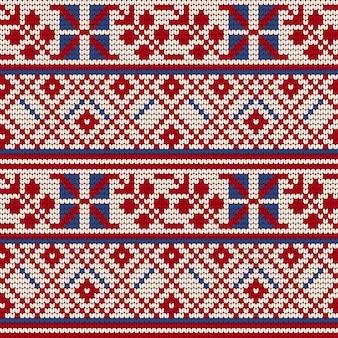 Tradycyjny wzór dziania dla brzydkiego swetra