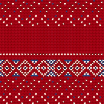 Tradycyjny wzór dziania dla ugly sweater