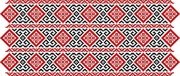 Tradycyjny wzór haftu z dzianiny w stylu rumuńskiej sztuki ludowej