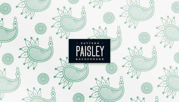 Tradycyjny wzór henny paisley