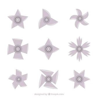 Tradycyjny zestaw gwiazd ninja z płaskiej konstrukcji