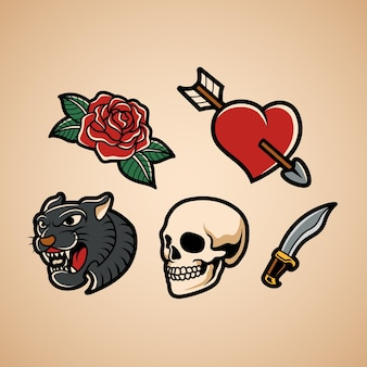 Tradycyjny zestaw tatuaży