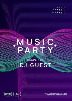 Trance party dj neonowa ulotka