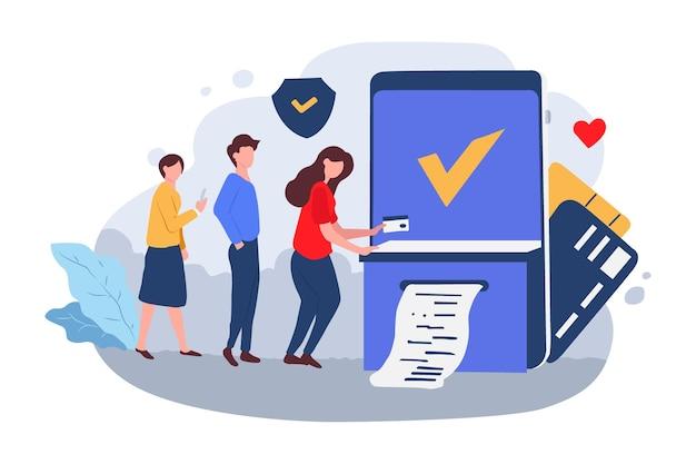 Transakcja płatności online dla osób people