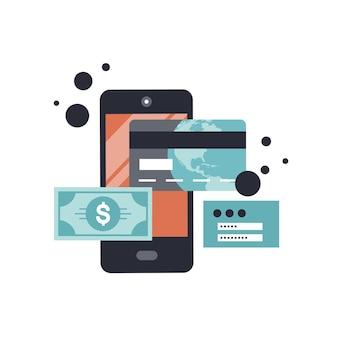 Transakcja sms na smartfonie i bankowość mobilna