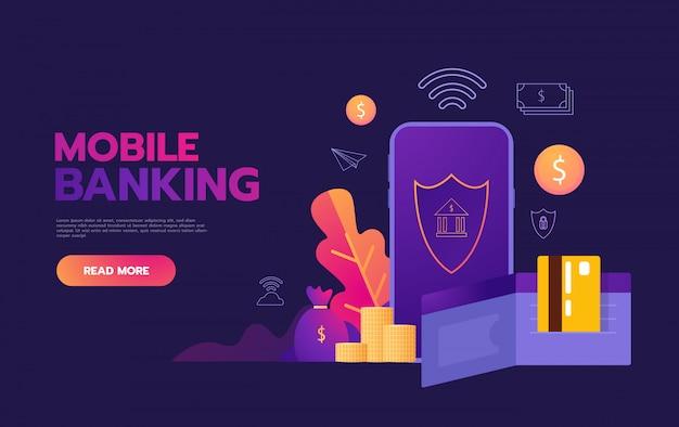 Transakcje pieniężne na całym świecie, biznes, bankowość mobilna i płatności mobilne,