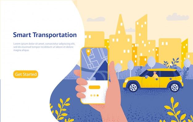 Transfer online ręką trzymającą smartfon i naciśnij przycisk wysyłania, szablon, stronę internetową, plakat, baner, aplikację mobilną, interfejs użytkownika.