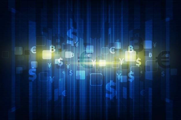 Transfer pieniędzy. globalna waluta. giełda papierów wartościowych. tło.