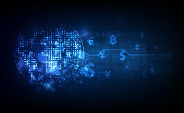 Transfer pieniędzy. globalna waluta. giełda papierów wartościowych. zbiory.
