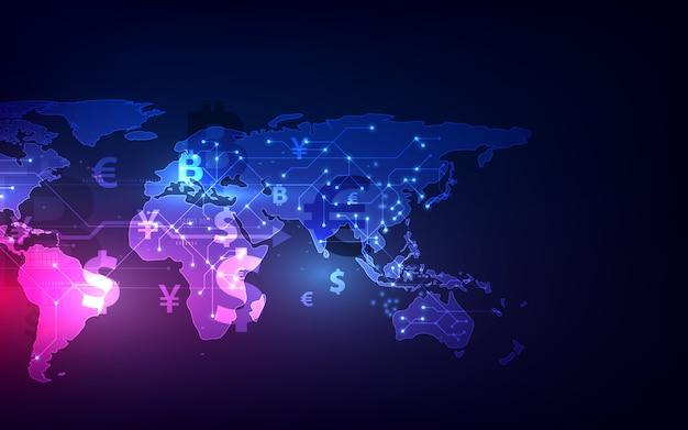 Transfer pieniędzy. globalna waluta.