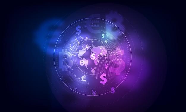 Transfer pieniędzy. globalna waluta