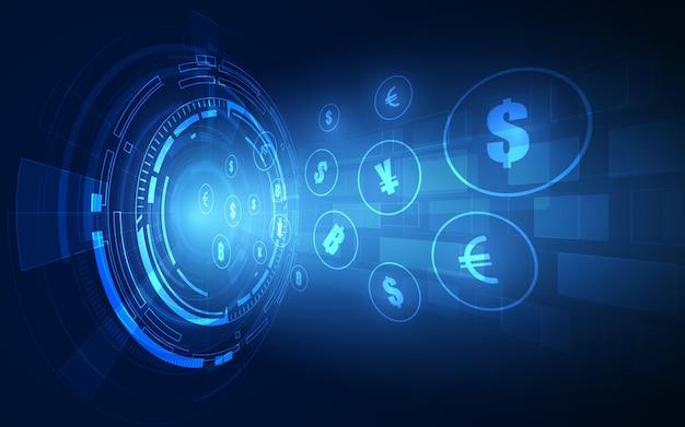 Transfer pieniędzy. waluta globalna. giełda papierów wartościowych. zbiory