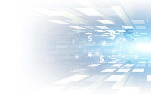 Transfer pieniędzy. waluta globalna. giełda papierów wartościowych.