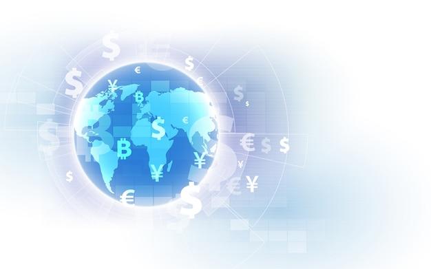 Transfer pieniędzy. waluta globalna.