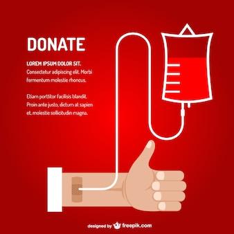 Transfuzja krwi wektor sztuki