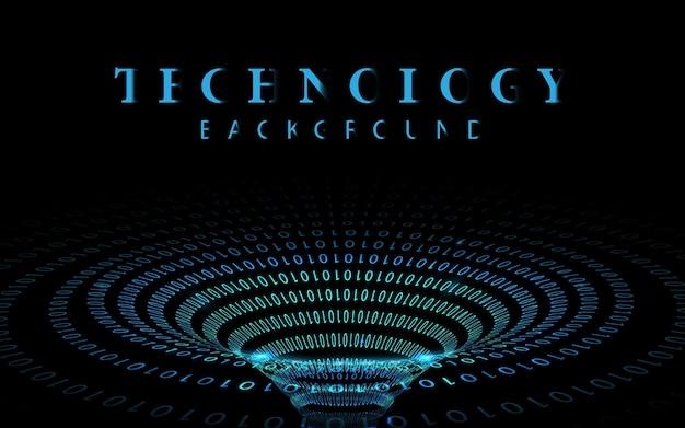 Transmisja danych kodu binarnego w tunelu. dynamiczne elementy do projektowania