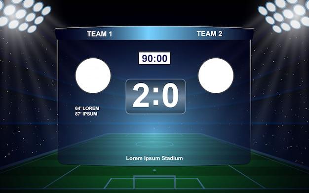 Transmisja z tablicy wyników piłki nożnej