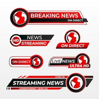 Transmisje na żywo w stylu banerów informacyjnych