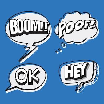 Transparent balony mowy na cztery słowa