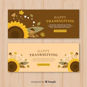 Transparent dzień dziękczynienia z jesiennych elementów