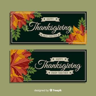 Transparent dzień dziękczynienia z liści jesienią
