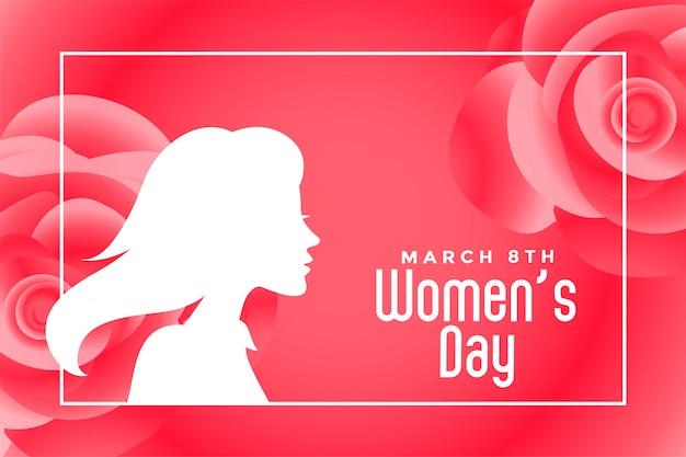 Transparent festiwalu szczęśliwy dzień kobiet