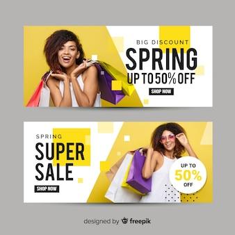 Transparent fotograficzny sprzedaży wiosną
