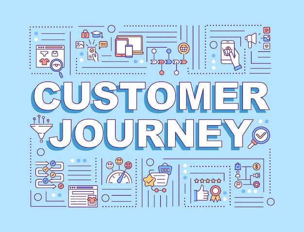 Transparent Koncepcje Słów Podróży Klienta Premium Wektorów