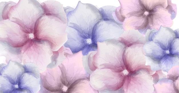 Transparent kwiaty akwarela