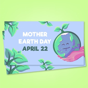 Transparent matka dzień ziemi akwarela