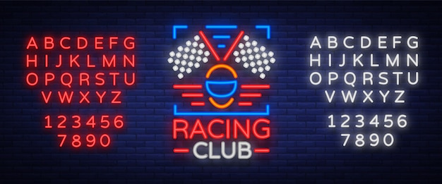 Transparent neon club racing
