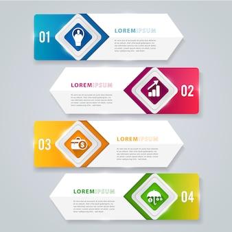 Transparent nowoczesny element infographic.