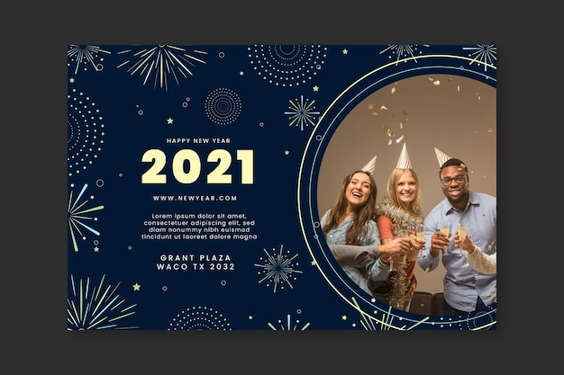 Transparent nowy rok 2021