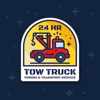 Transparent odznaka ciężarówka holownicza