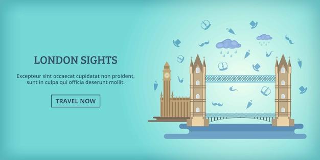 Transparent poziomy budynków w londynie, stylu cartoon