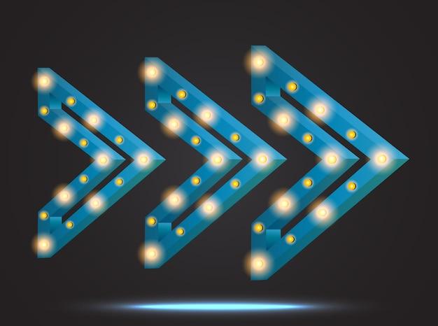 Transparent retro ramki światła