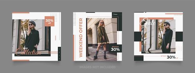 Transparent sprzedaż moda dla mediów społecznościowych