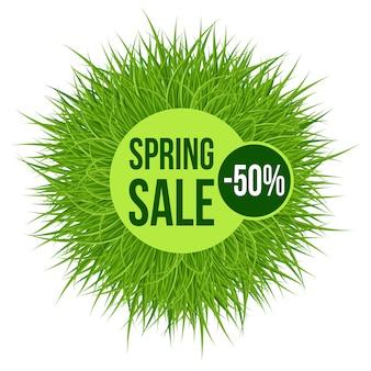 Transparent sprzedaż wiosna zielona trawa