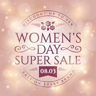 Transparent sprzedaży dzień kobiet.