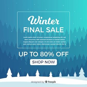 Transparent sprzedaży zimowych